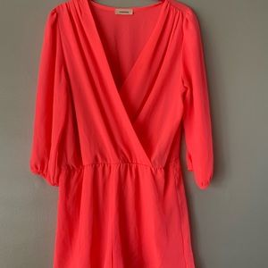 Coral Pink Romper, size M